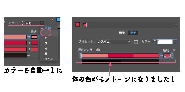 オブジェクトの再配色