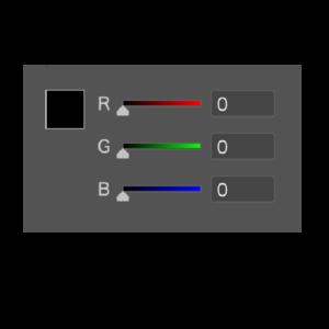 RGBそれぞれ0に